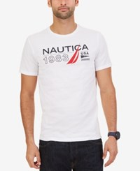 Nautica Men's Big And Tall Signature 1983 Graphic T Shirt Bright White
