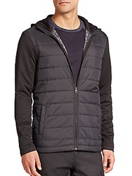 Saks Fifth Avenue Quilted And Hooded Jacket Black