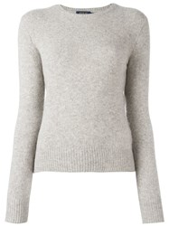 Polo Ralph Lauren Ribbed Crew Neck Jumper Grey