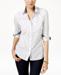 Tommy Hilfiger Anchor Print Shirt White