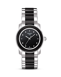 Tissot Cera Women's Black Diamonds Ceramic Quartz Watch 28Mm No Color
