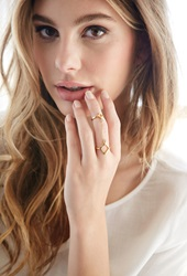 Forever 21 Katie Dean Double Diamond Ring Gold