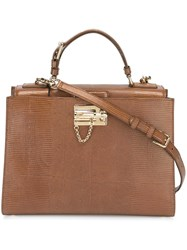Dolce And Gabbana Large 'Monica' Tote Brown