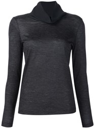Fabiana Filippi Roll Neck Top Grey