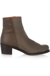 Penelope Chilvers Cristo Snake Effect Leather Ankle Boots