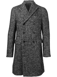 Z Zegna Double Breasted Coat Black