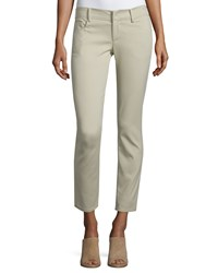 Cnc Costume National Low Rise Skinny Cropped Pants Tan Women's