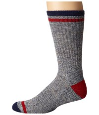 Smartwool Larimer Crew Ink Heather Men's Crew Cut Socks Shoes Navy