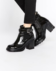 Bronx Chunky Heeled Chelsea Boots Black