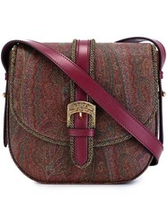 Etro Paisley Print Saddle Bag Pink And Purple