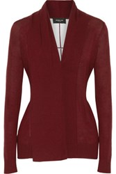 Derek Lam Cashmere And Silk Blend Cardigan Burgundy