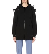 Undercover Bow Detail Cotton Jersey Hoody Black