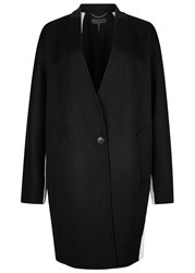 Rag And Bone Rockley Monochrome Panelled Wool Coat Black And White