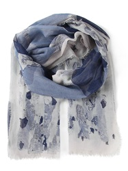 Armani Jeans Printed Scarf Blue