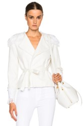 Alexis Evan Jacket In White