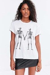 Mouchette Double Take Skeleton Tee White