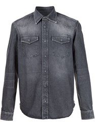 Maison Martin Margiela Stonewash Denim Shirt Black
