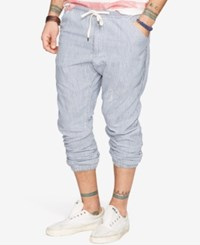 Denim And Supply Ralph Lauren Striped Twill Jogger Pants Blue
