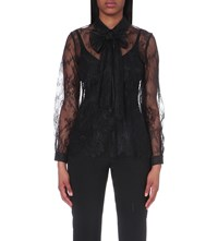 Claudie Pierlot Chester Lace Shirt Noir