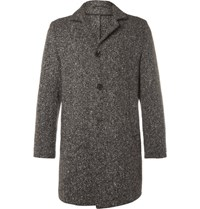 Eidos Slim Fit Shay Barleycorn Tweed Coat Tan