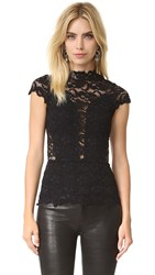 Nightcap X Carisa Rene Day To Date Lace Top Black