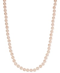 Charter Club Imitation Pink Pearl Strand Necklace Only At Macy's Silver