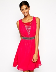 Little Mistress Lace Prom Dress With Embellished Waist Cherry