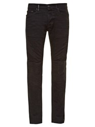 Marcelo Burlon Slim Fit Biker Jeans Black