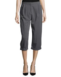 Halston Straight Leg Cropped Pants Lead