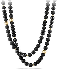 Black Onyx Necklace With 18K Gold David Yurman