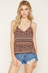 Forever 21 Ornate Geo Print Cami