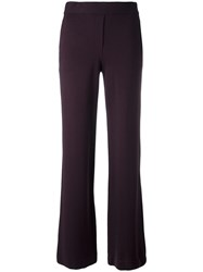Theory Flared Trousers Pink Purple