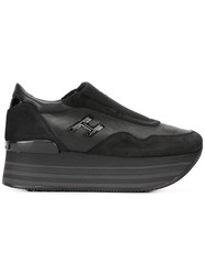 Hogan Platform Slip On Sneakers Black