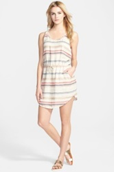 Hinge 'Alabama' Stripe Tank Dress Beige