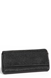 Whiting And Davis 'Pyramid' Mesh Clutch Black