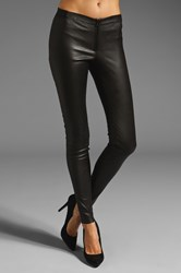 Alice Olivia Front Zip Leather Legging Black