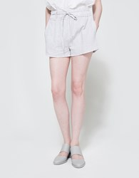 Farrow Pin Stripe Shorts W Tie Waist Grey