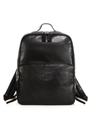 Bally Leather Backpack Black