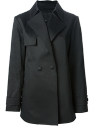 Alexander Wang Short Double Breasted Coat Black