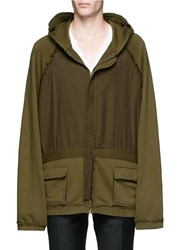 Haider Ackermann 'Perth' Oversized Zip Hoodie Green