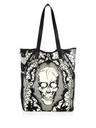Alexander Mcqueen Medium Tote Bag Black White