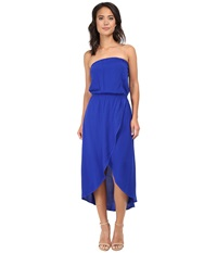 Splendid Tube Top Tulip Dress Cobalt Blue Women's Dress