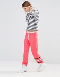 Sundry Ginger Stripe Sweatpants Ginger Pink