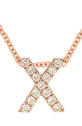 Bony Levy Women's Pave Diamond Initial Pendant Necklace Nordstrom Exclusive Rose Gold X