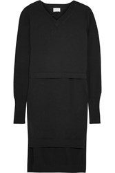 Dkny Layered Cotton Blend Tunic Black
