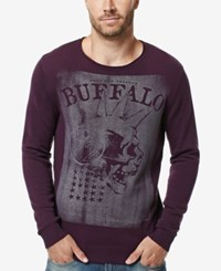 Buffalo David Bitton Men's Wicrane Graphic Print Sweater Blackberry