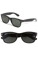 Women's Ray Ban 'New Small Wayfarer' 55Mm Polarized Sunglasses Polarized Black