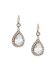Azaara Vintage By Swarovski Crystal Silver And Copper Antique Teardrop Earrings Antique Gold
