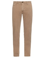 Jacob Cohen Bobby Slim Fit Cotton Blend Chino Trousers Beige