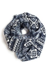 Muk Luks Reversible Eternity Scarf Blue